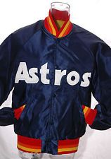 879aeee29 Vintage HOUSTON ASTROS STARTER JACKET Coat MLB Baseball MINT Sz S Sewn  Stitched