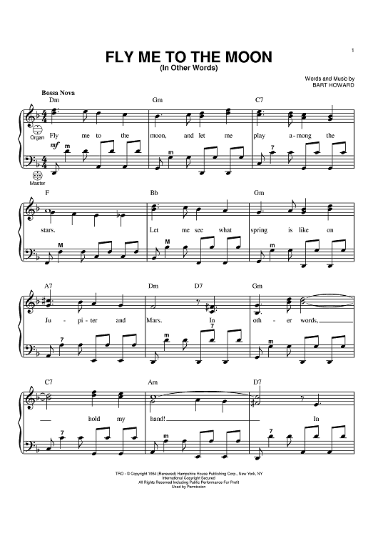 Fly Me To The Moon Jazz Piano Sheet Music Pdf Free — BCMA