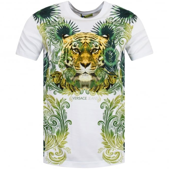 1ccda3653 Versace Jeans Jungle Tiger Print T-Shirt | Versace men in 2019 ...
