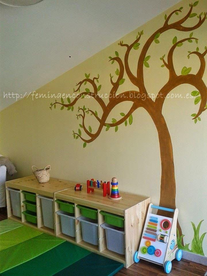 F mina en construcci n habitaci n infantil inspirada en for Decoracion habitacion infantil montessori