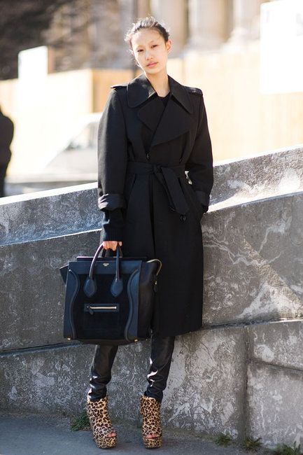 90f81c50aeee The Front Row View  Street Style  Models Love Céline s Boston Bag ...