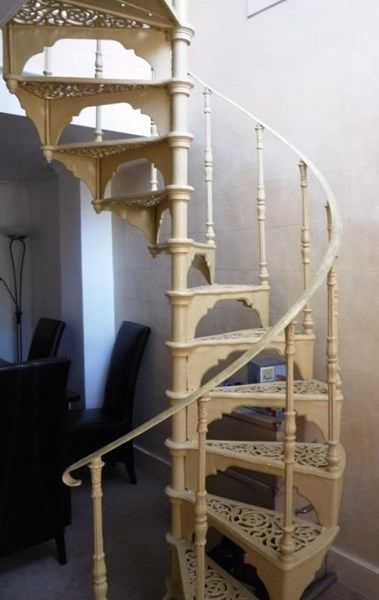 Best Salvaged Cast Iron Spiral Staircase With A Balcony 640 x 480