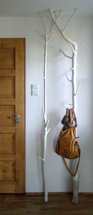 porte manteau arbre à fabriquer pour la déco du hall d'entrée ... - Fabriquer Un Porte Manteau En Forme D Arbre
