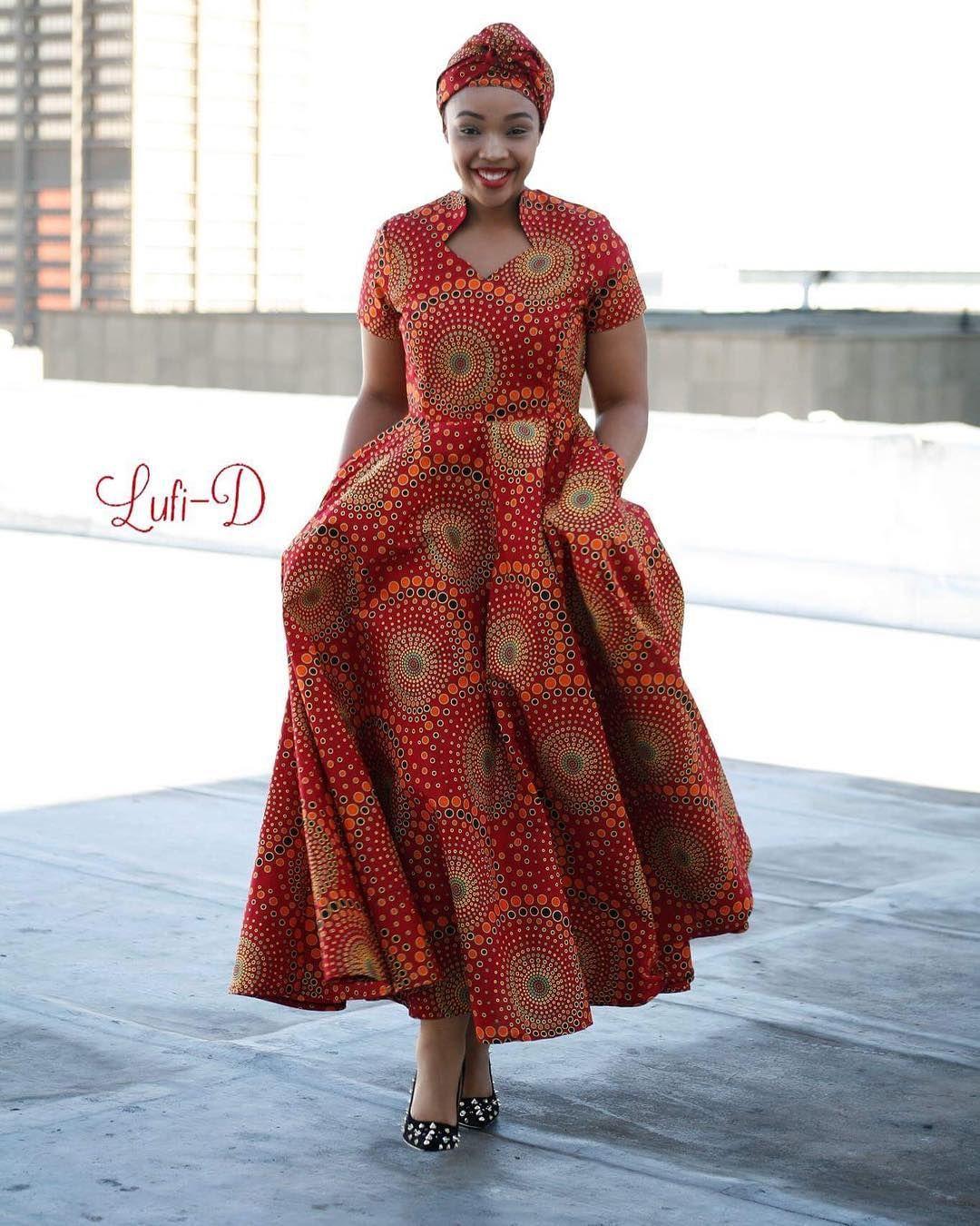 Ankara Maxi Dress With Pockets Royal Dress R1400 Size