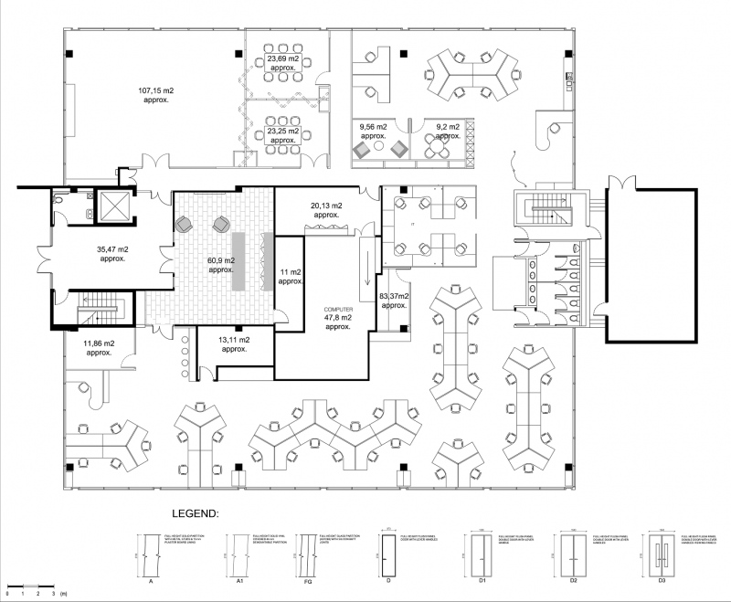 Ignore everything except how the cubes are laid out for Office room plan