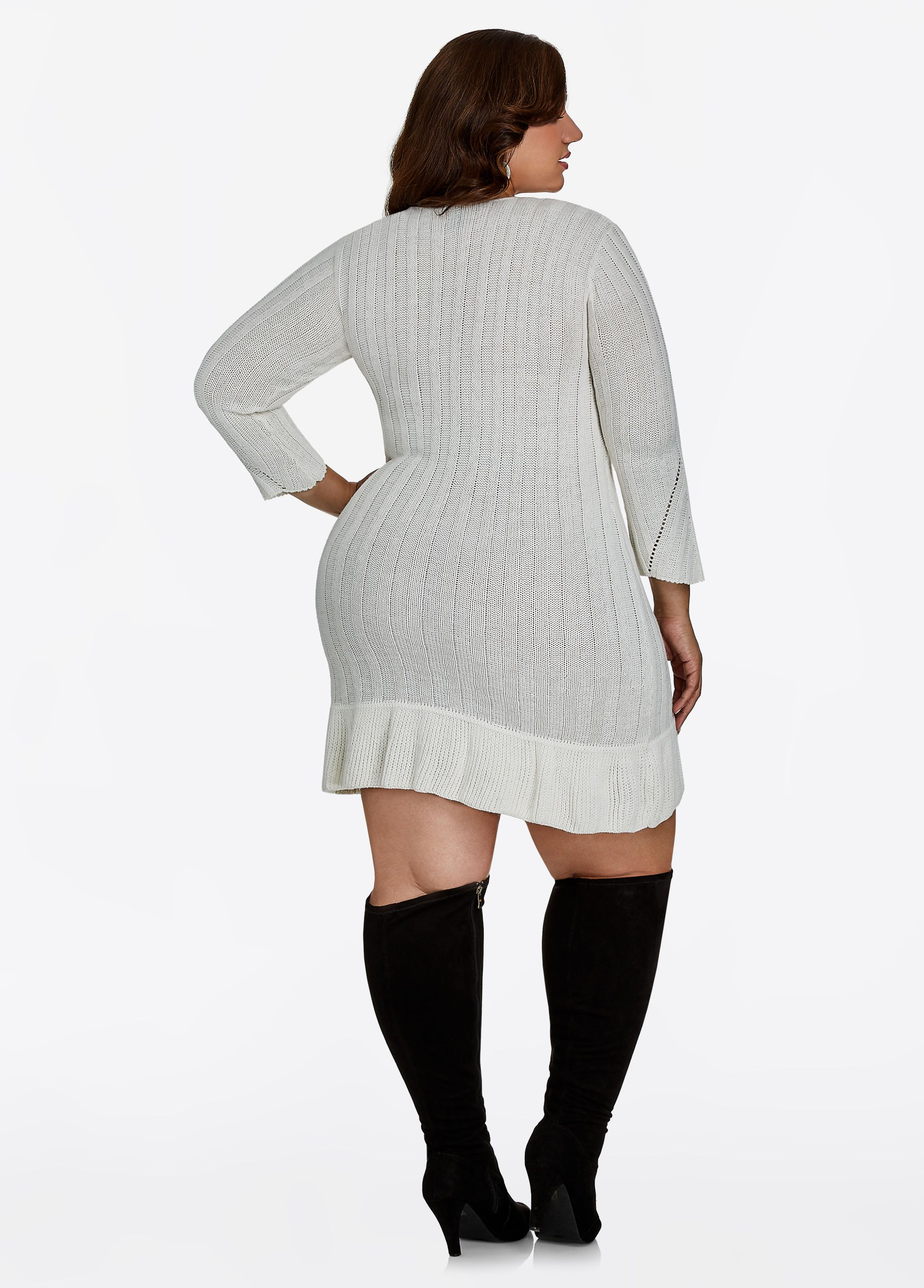 8be7148230 Lurex Sweater Dress - Ashley Stewart