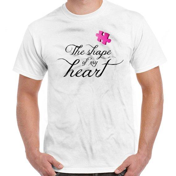 4fc34bc2 Autism Awareness Shirt Autism T Shirt The Shape Of My Heart Autistic Shirt  Puzzle Piece Children Wit