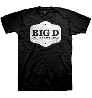 Big D & The Kids Table Distressed Shield T-Shirt for $19.95   http://www.jsrdirect.com/merch/big-d-the-kids-table/distressed-shield-t-shirt  #bigd #bigdandthekidstable #bandtees #punktees #skatees #punktshirts #skatshirts #bandtshirts #skapunk #distressedshield
