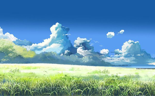 Clouds Landscapes Grass Fantasy Art Plains Skyscapes Fresh New Hd Wallpaper Anime Scenery Scenery Wallpaper Anime Scenery Wallpaper