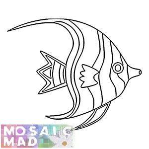 Fish Angelfish Pattern Fish Coloring Page Fish Drawings Animal Coloring Pages