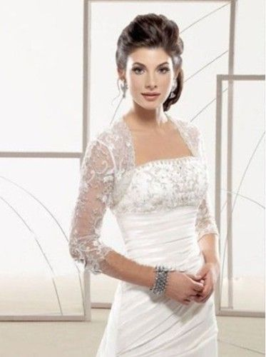 wedding dress boleros and shrugs long sleeve plus size ...