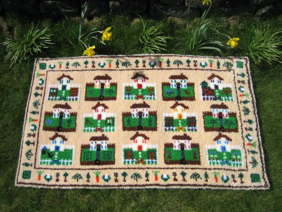 Around the Houses Latch Hook Rug Kit Large by UtterlyHookedDesigns, £152.95