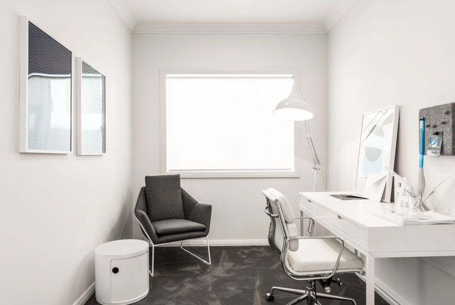 Studious Modern Moments: Grey Simplicity Built By Lifestyle Designer Homes.
