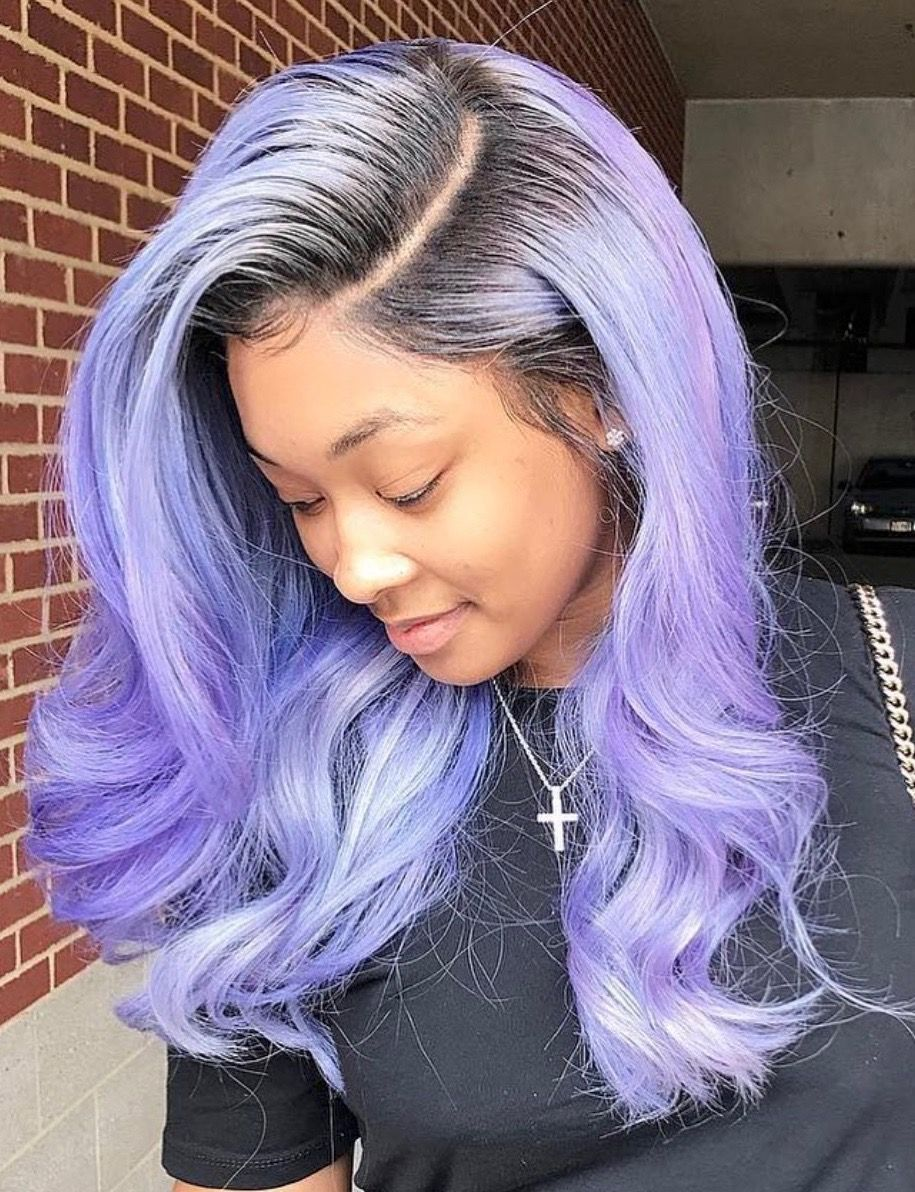 Sew in weave hairstyle with color, just love this color