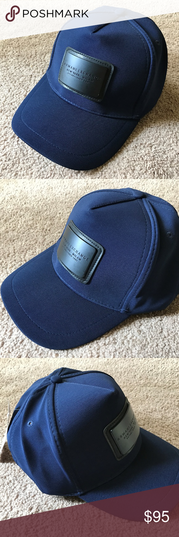 9583c188298 Armani Exchange Blue Hat Baseball Mens Cap Hat A