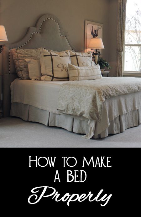 How To Make A Bed Properly
