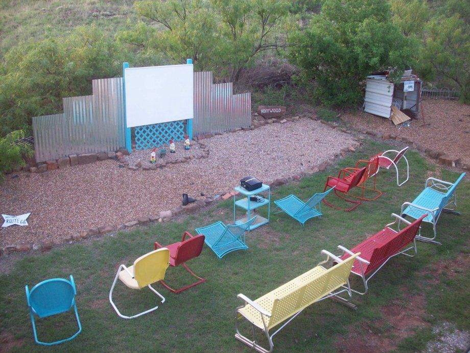 Mick's backyard drivein theater At home movie theater
