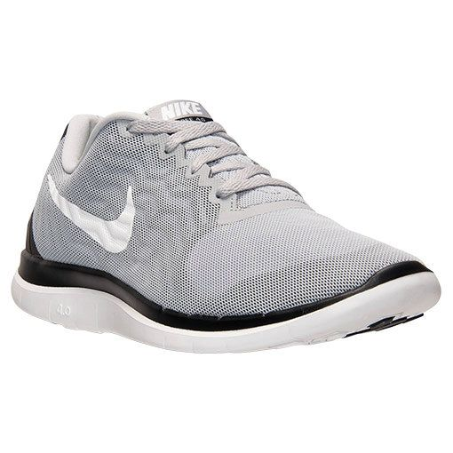 outlet store 0e2ce 1f710 Populaire Mens Nike Free 4.0 V5 Wolf Grey Black White