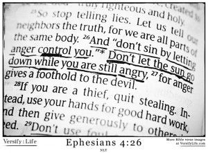 what does the bible say about anger and bitterness