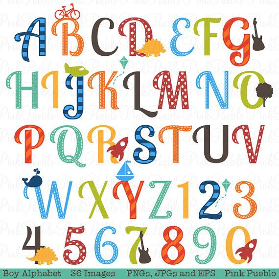 boy alphabet letters scrapbooking alphabet clipart clip art uppercase and numbers commercial and