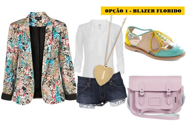'Bramare' do dia – Blazer com shorts jeans