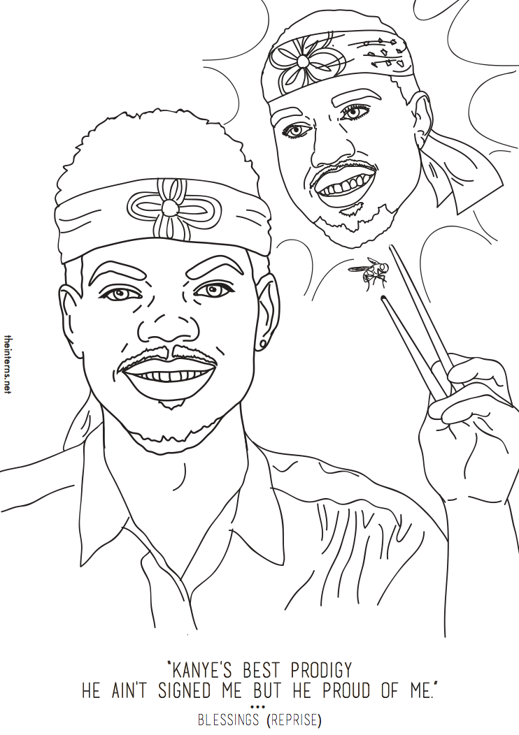 Chance The Rapper S Coloring Book Inspired An Actual Coloring Book Coloring Book Chance Coloring Books Coloring Pages