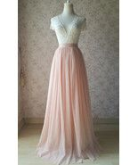 Photo of BLUSH PINK Tulle Skirt Full Length Blush Wedding Bridesmaid Outfits, US0-US28