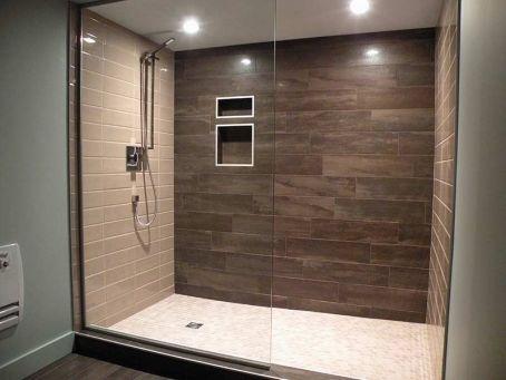 céramique salle de bain - Recherche Google Rénos sous-sol Pinterest - percer carrelage salle de bain