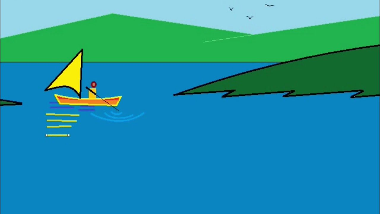 How To Draw A Simple Scenery In Ms Paint Cometube Drawings Easy Drawings Painting