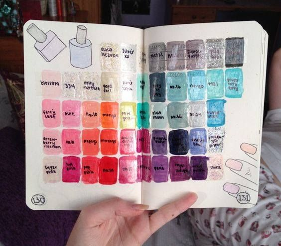 Nail Polish Swatch Book: Nail Polish Swatches! Genius!
