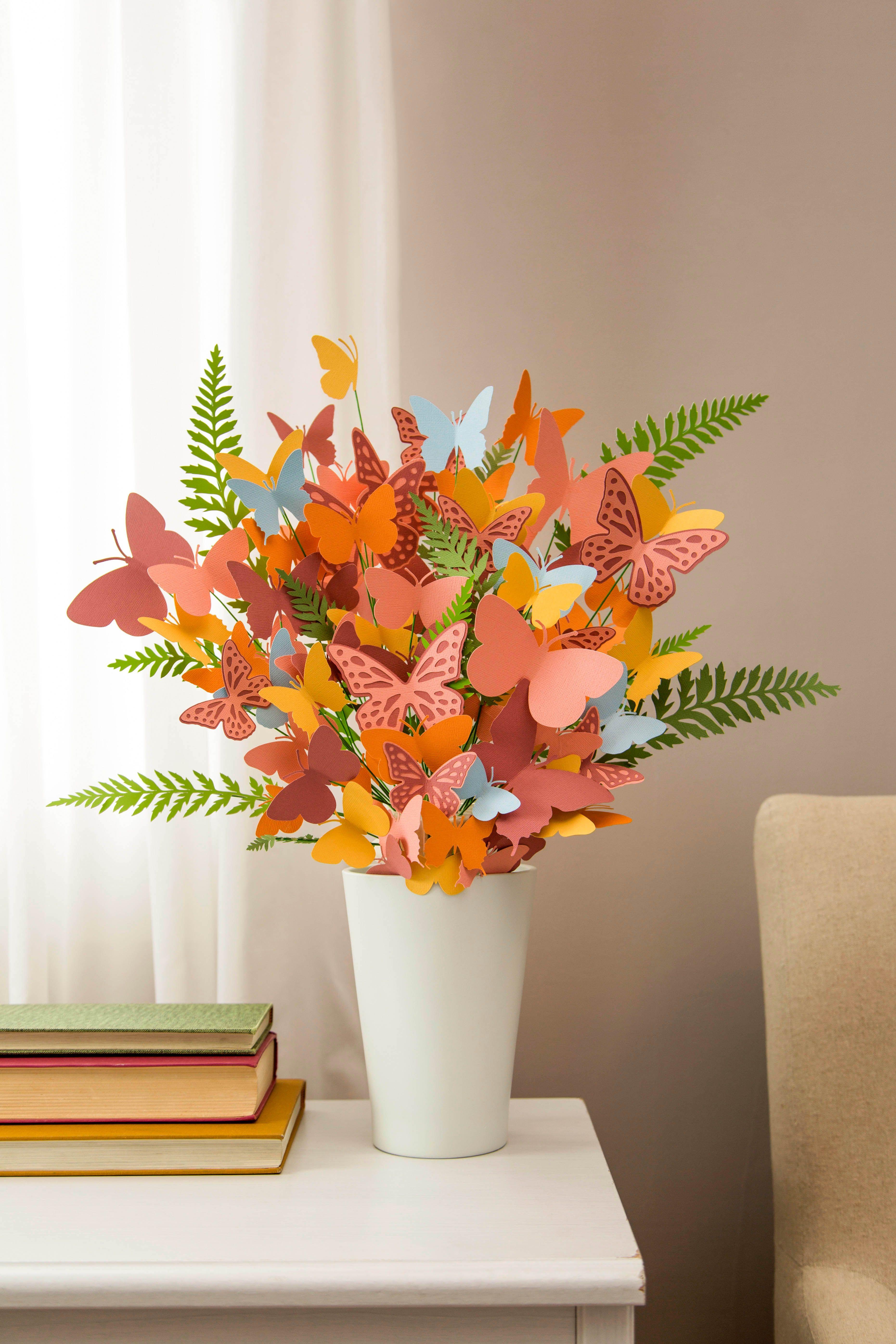 Cricut Paper Butterfly Bouquet Crafts Pinterest Paper Crafts