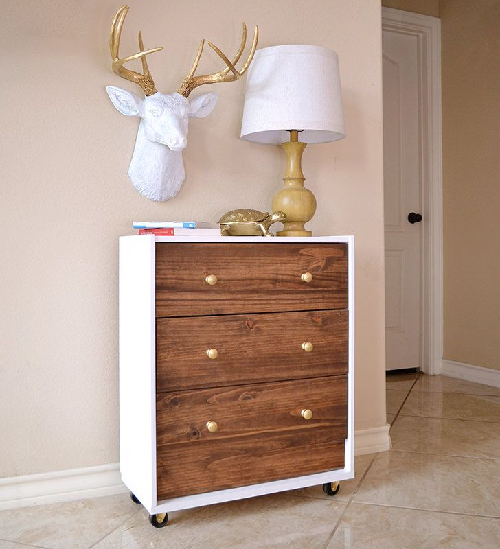 Check Out This IKEA Rast Hack Into A Mid Century Modern Inspired Dream  Nightstand!