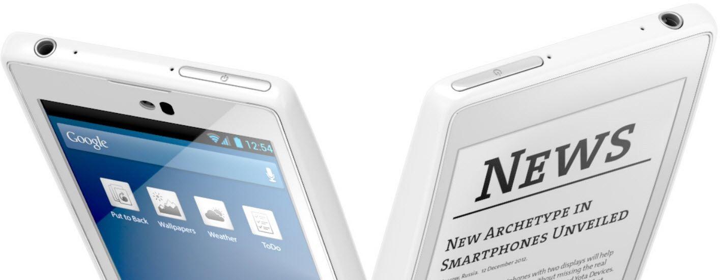 YotaPhone - Dual LCD/E-ink displays