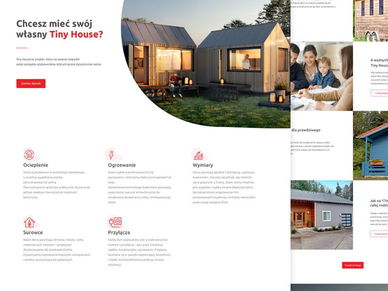 Tinyhouse Webdesign Dribbble Design Web Design