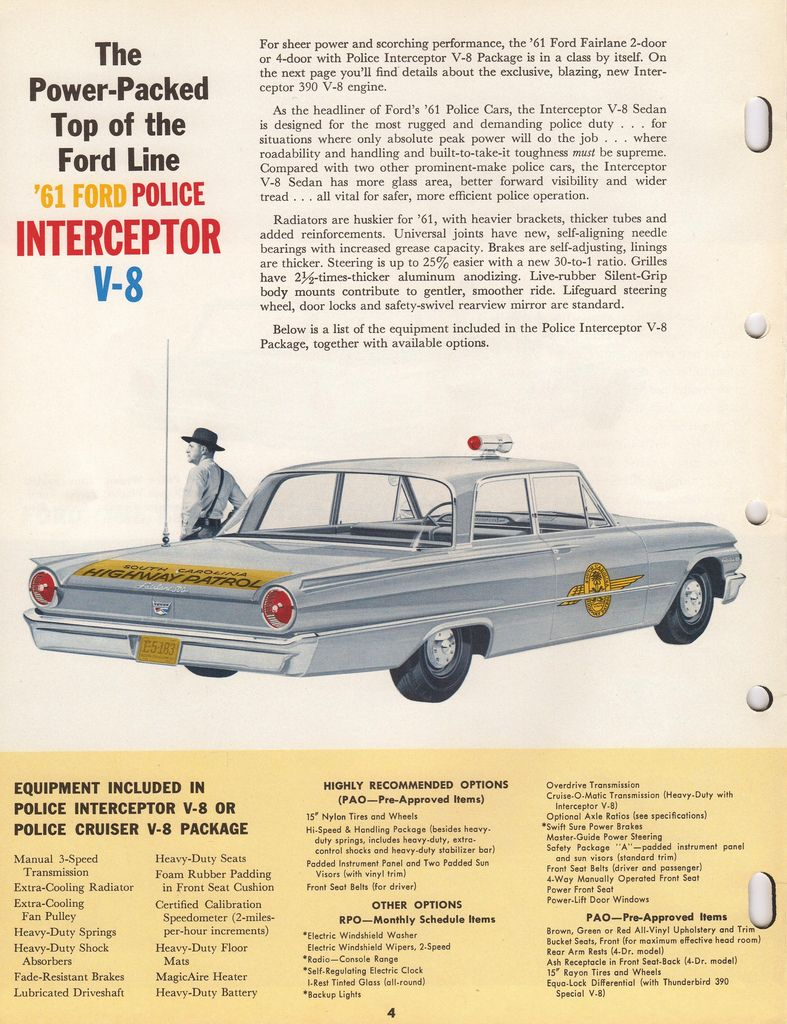 1961 Ford Police Car | Ford police, Police cars and Ford