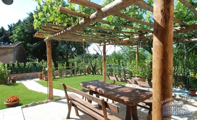 Image result for chestnut pergola Tuin, Tuin ideeën