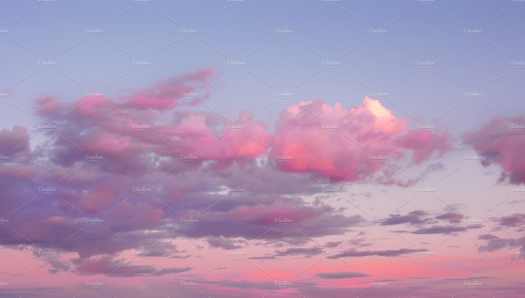 Magic Pink Sunset Sky With Clouds Pink Clouds Wallpaper Sky Aesthetic Sky Pictures Aesthetic pink clouds wallpaper laptop