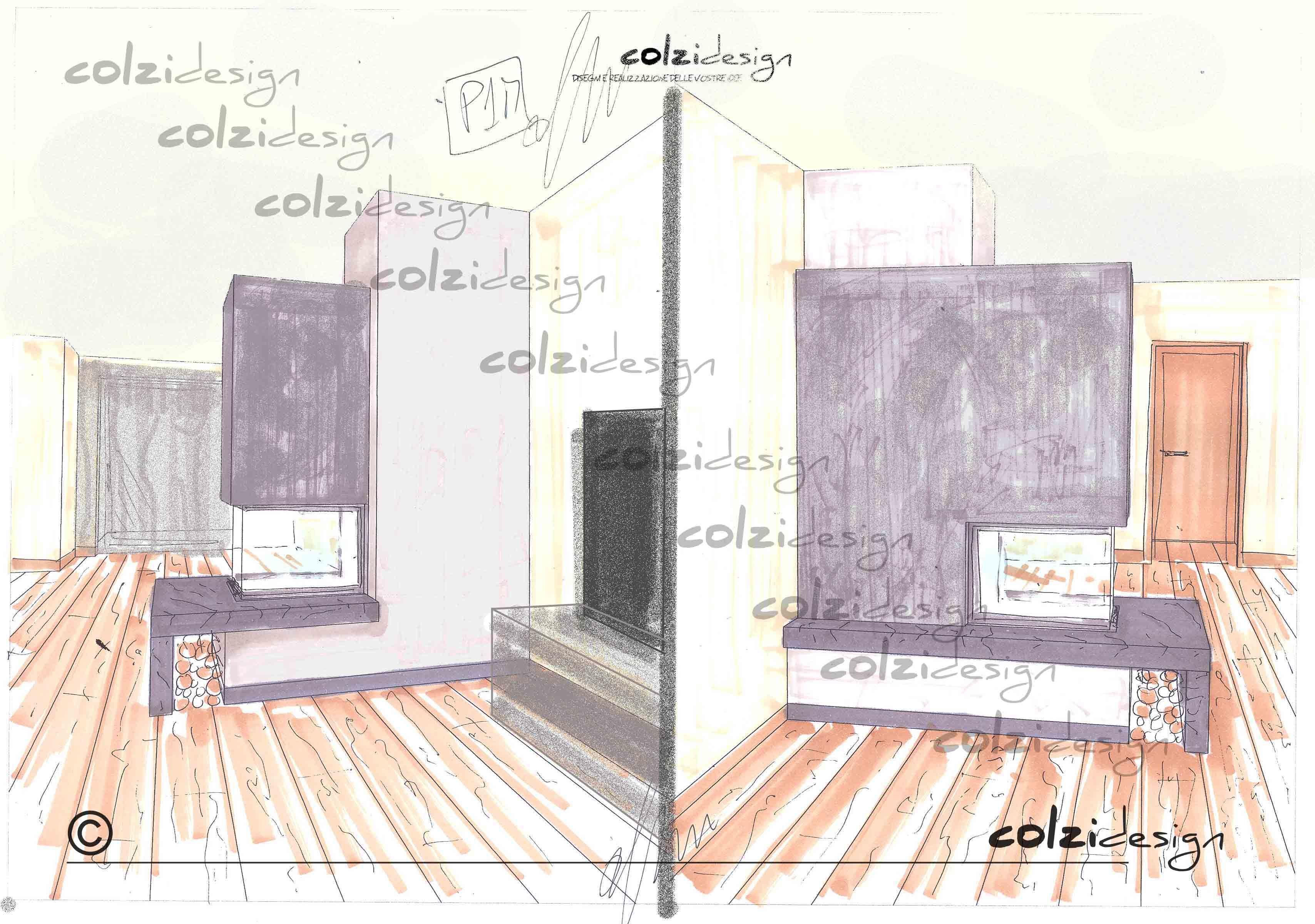 Mensole In Marmo Per Termosifoni monoblocco austroflamm trifacciale con rivestimento in marmo