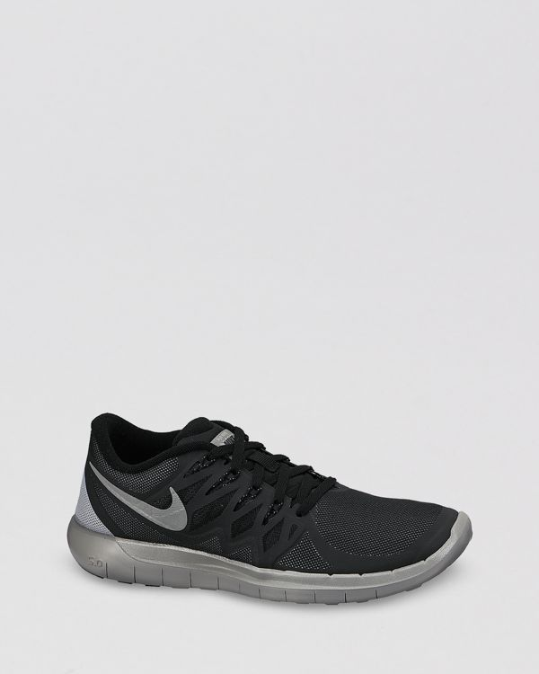 low priced 4b314 417b0 Nike Lace Up Running Sneakers - Women s Free 5.0 Flash