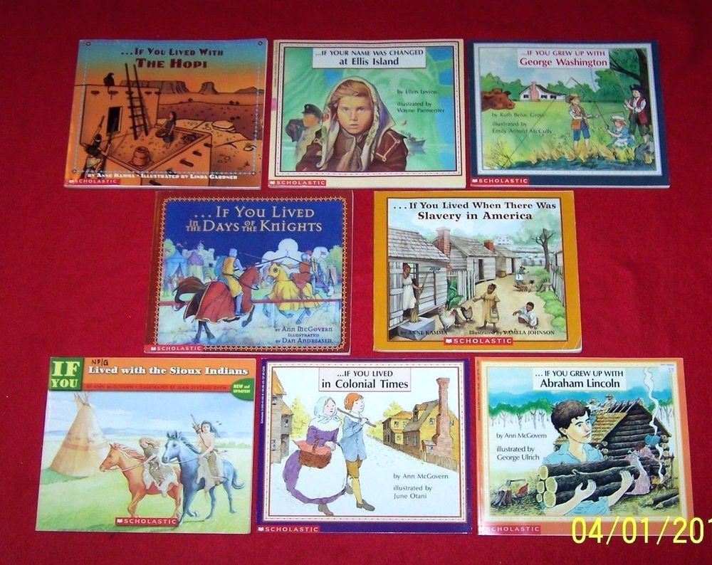 8 History book lot~If You Lived Grew Up 2nd 3rd 4th Grades~Teachers~Homeschool