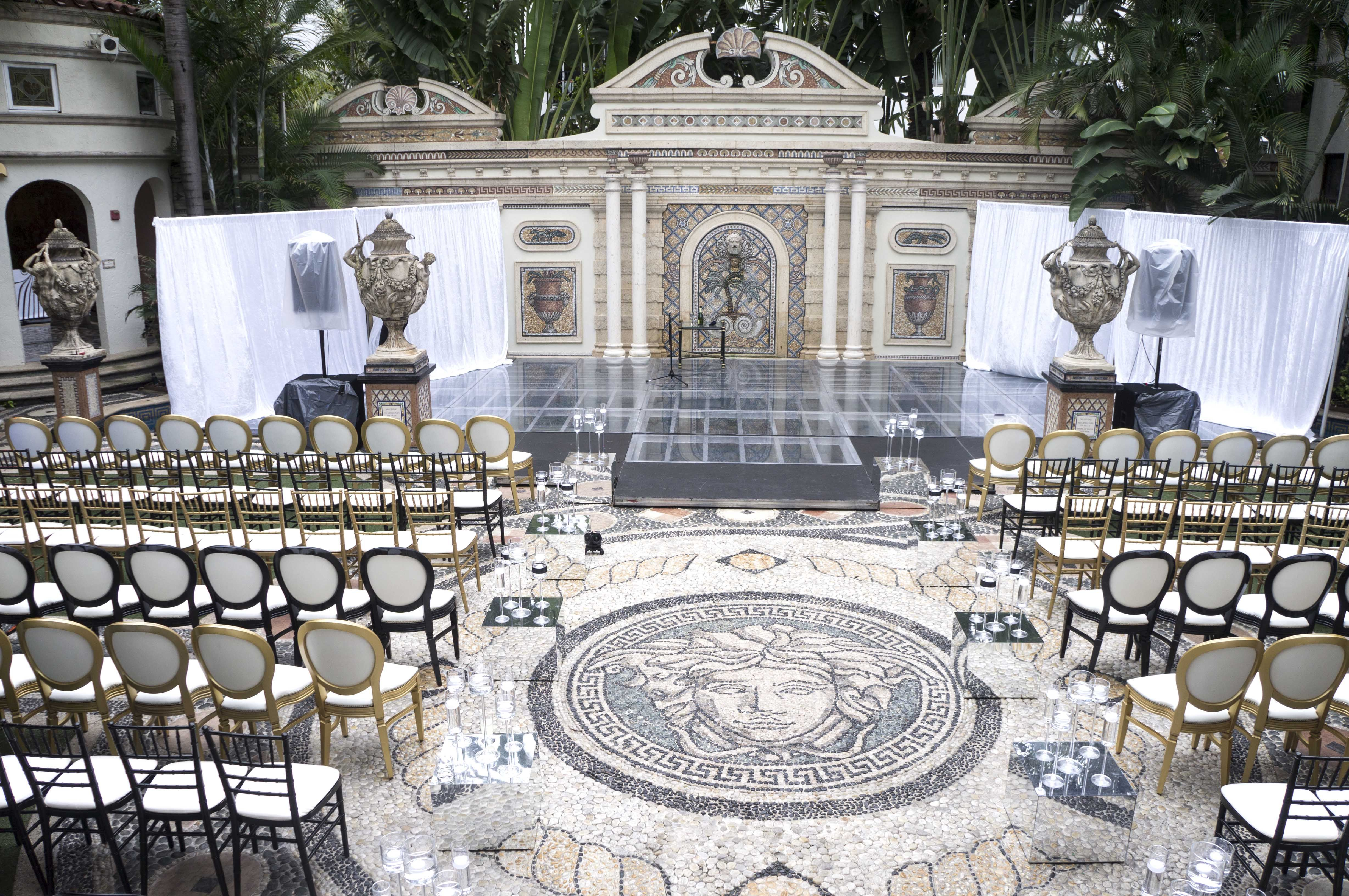 Ceremony Versace Mansion Wedding Miami Beach