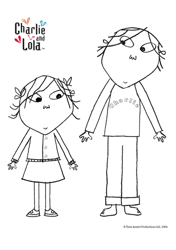 Free Online Charlie Lola Colouring Page Books Coloring Pages