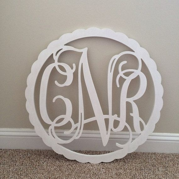 Wooden Monogram Wall Hanging wooden monogram with border-monogram wall hanging-wedding monogram