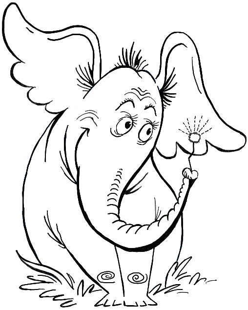 How to Draw Horton Hears a Who from Dr. Seuss' Book in Easy Steps - How to Draw Step by Step Drawing Tutorials