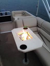 Image Result For Pontoon Fire Pit Table Pontoon Boat Accessories Pontoon Pontoon Boat