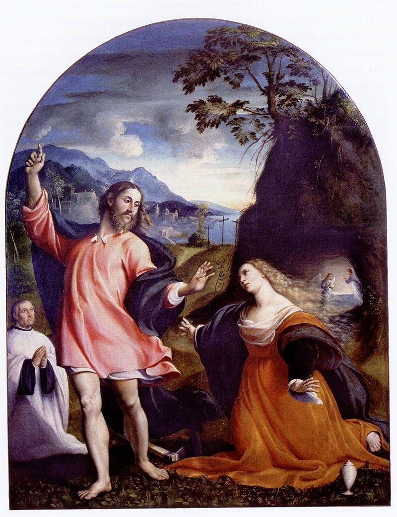 Giovanni Antonio De Sacchis Pordenone Noli Me Tangere 1524 Museo Cividale Contrasto 33 Il Pordenone Wikiped Noli Me Tangere Maria Maddalena Museo