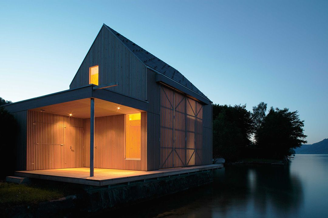 Kleines Badehaus Haus, Architektur und Haus am see