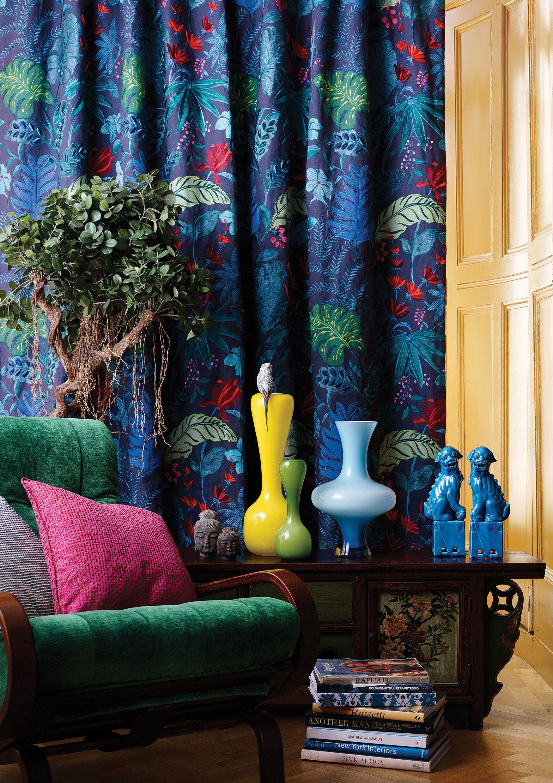 matthew williamson floridita fabric osborne and little. Black Bedroom Furniture Sets. Home Design Ideas