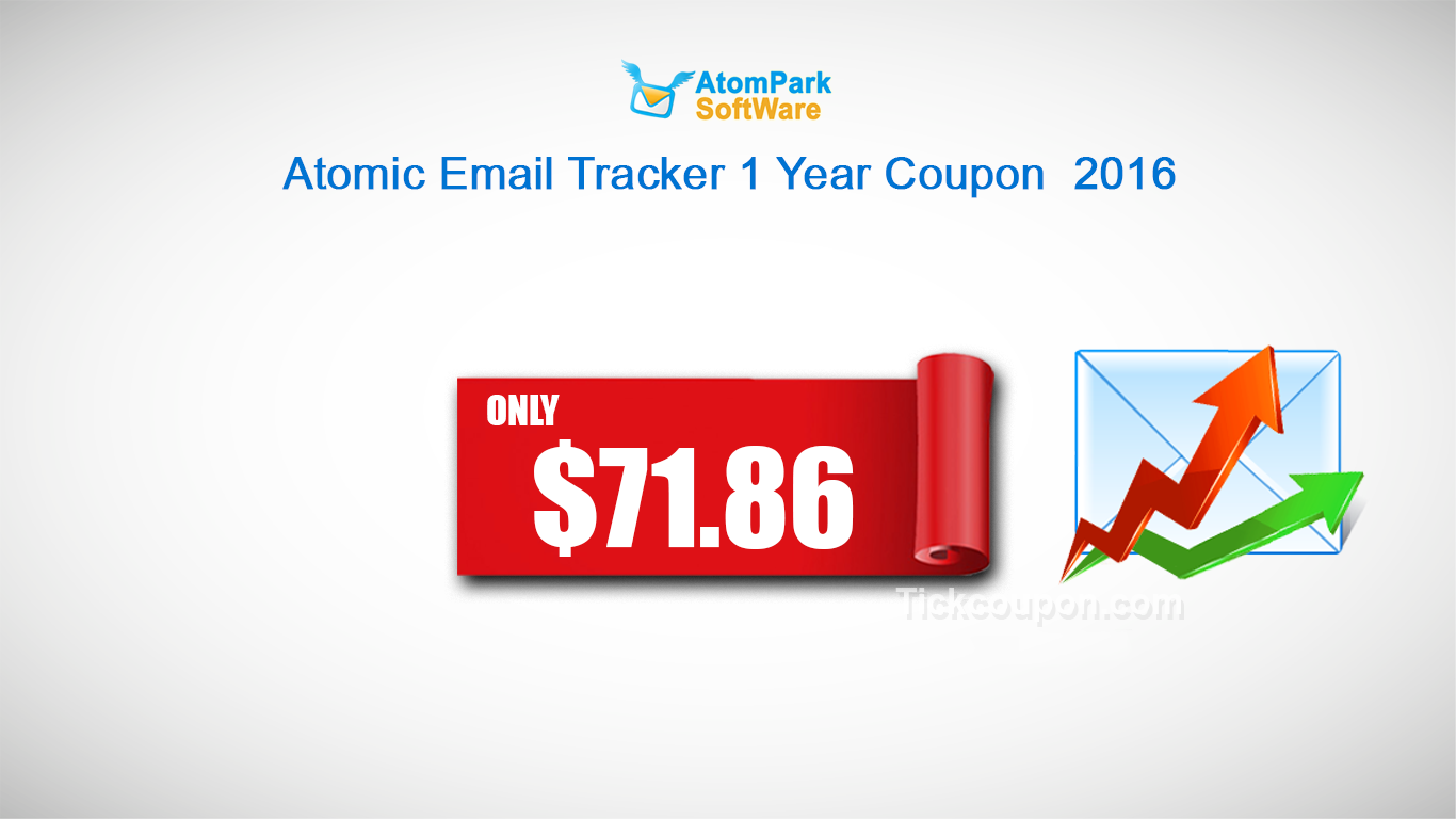 Atomic Email Tracker 1 Year Coupon: Only $71.86 http://tickcoupon.com/coupons/atomic-email-tracker-1-year-coupon-79-85
