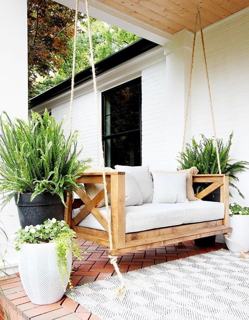 Pin by The Turquoised Texan on Build a house Porch swing